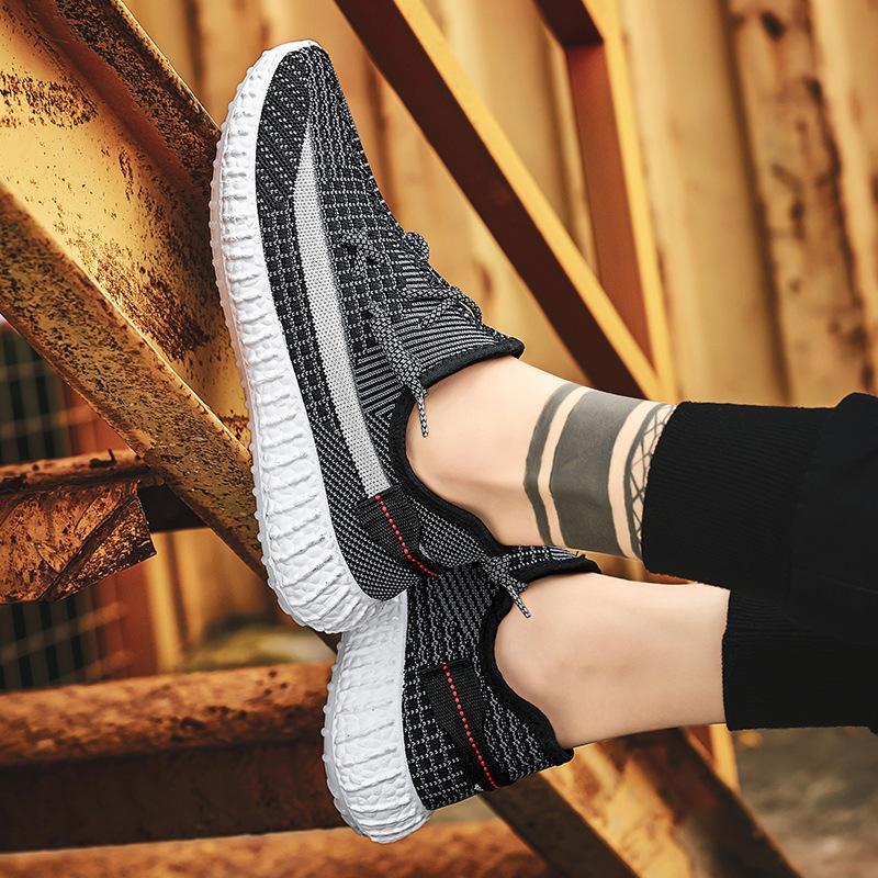 夏季韩版透气运动男鞋潮流休闲轻便旅游鞋低帮圆头运动鞋男女款
