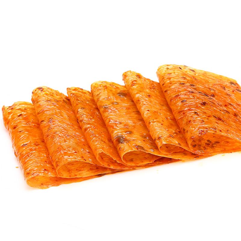 小鹏食品老式大辣片8090后儿时怀旧零食手撕麻辣豆皮网红辣条小吃