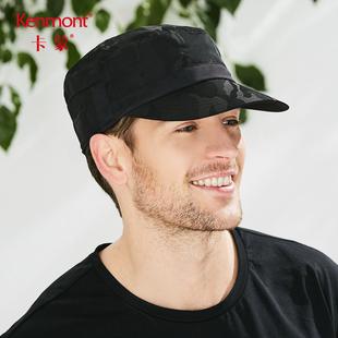 卡蒙防晒迷彩平顶帽男士夏季防紫外线迷彩军帽户外透气遮阳帽子春