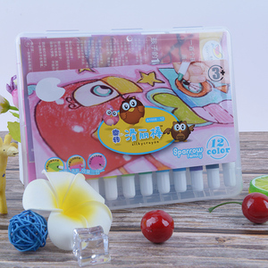 24色油画棒旋转蜡笔油画棒儿童油画棒丝滑蜡笔可水洗炫彩棒滑丽棒