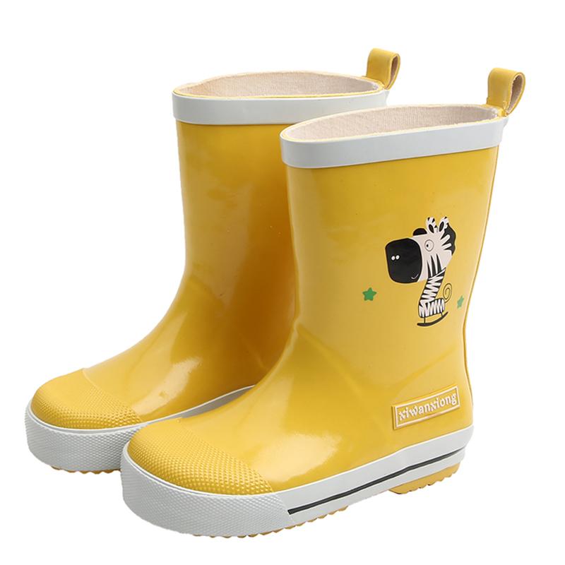 儿童雨鞋男童时尚防滑雨靴女童可爱水鞋中大童套鞋小学生胶鞋水靴