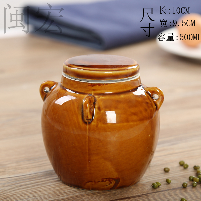 Restore ancient ways the tea pot sealing ceramic honey pot dry pickles upper pot dry grain storage tank