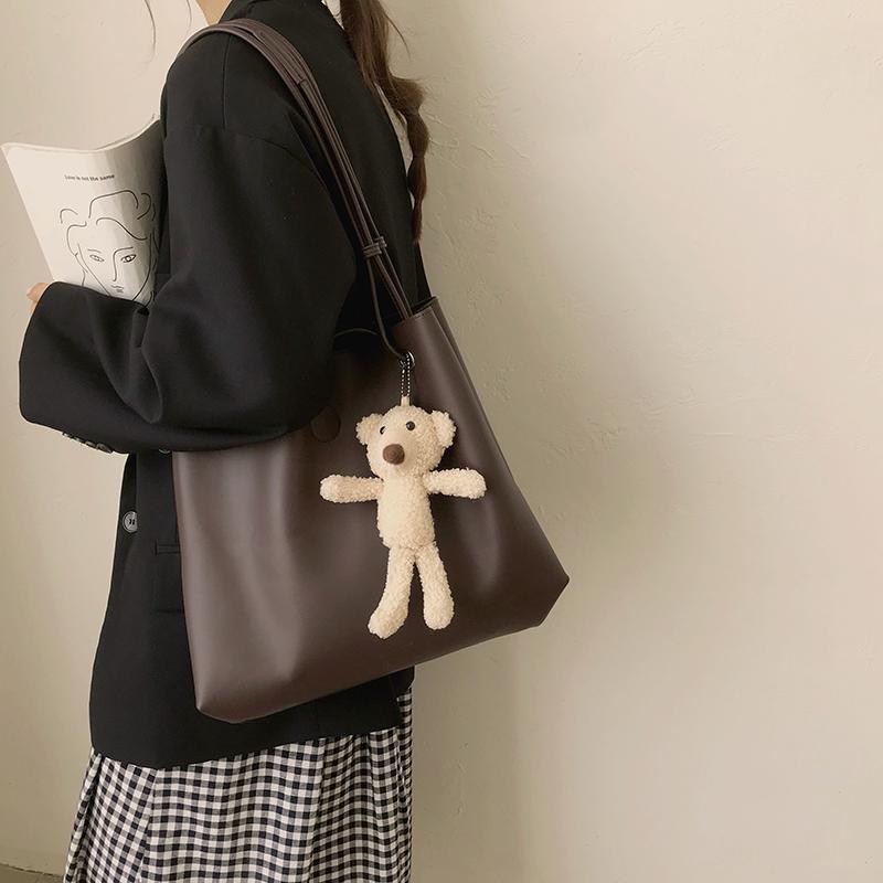 【送小熊挂件】秋冬大容量托特包子母包
