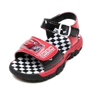 迪士尼男童凉鞋潮流夏季小童韩版鞋 时尚中大童防滑儿童沙滩鞋