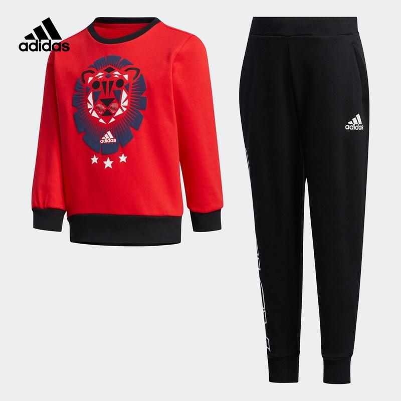 阿迪达斯官网adidas小童装训练长袖圆领针织运动套装GC9260