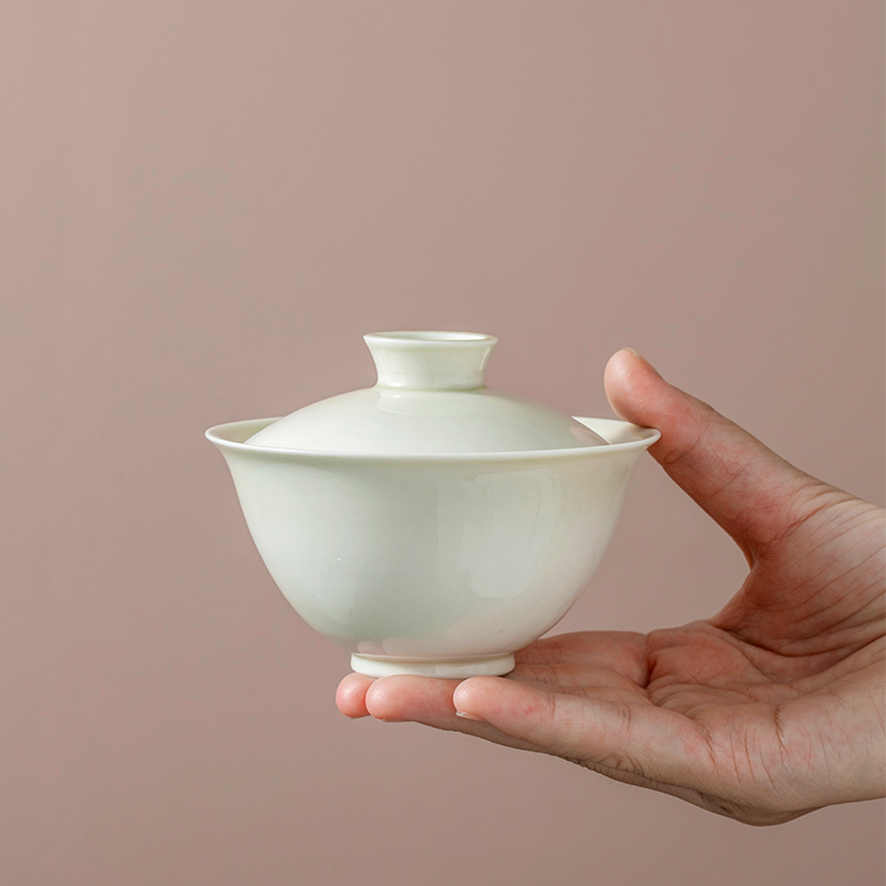 "The Self - ""appropriate plant ash content manually jingdezhen tureen cup bowl three single GaiWanCha kung fu tea set"