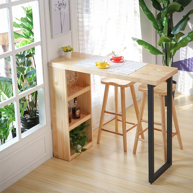 Nordic bar table home partition cabinet modern minimalist wood ...
