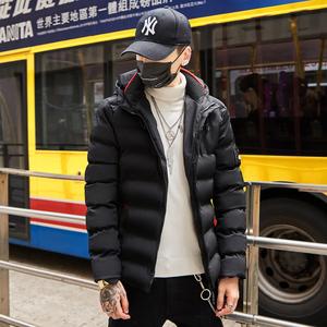 新款2018男士冬季外套棉衣男短款潮流帅气休闲羽绒棉服加厚棉袄男