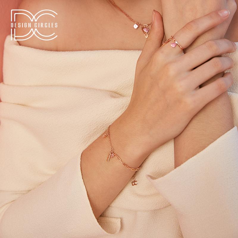 周大生子品牌/设界 谜系列S925银 LOVE甜美可爱ins小众设计手链