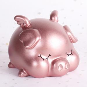 创意金猪存钱罐儿童男孩女孩防摔储蓄罐摆件卡通可爱硬币储钱罐大