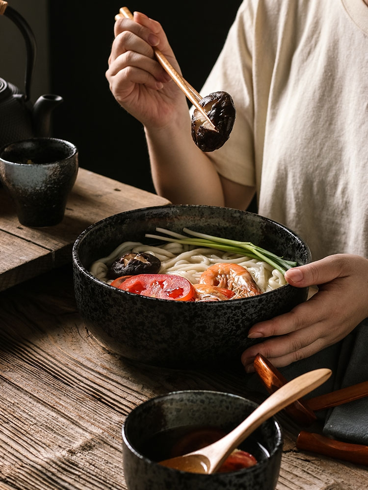 BQ garden wild Japanese ceramic soup can cover your job tableware and the restoring ancient ways to use a pull rainbow such use large soup bowl with originality