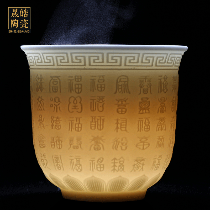Jingdezhen sweet white porcelain its best everyone masters cup antique white porcelain ceramic cup kung fu tea cups
