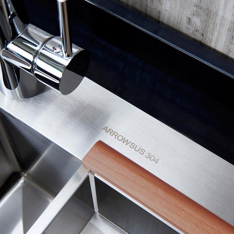 ARROW箭牌卫浴手工槽加大双槽加厚不锈钢洗碗槽洗菜盆AE55121系列