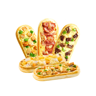 小萨牛牛微波芝士船披萨套餐5味早餐速食半成品懒人食品加热即食