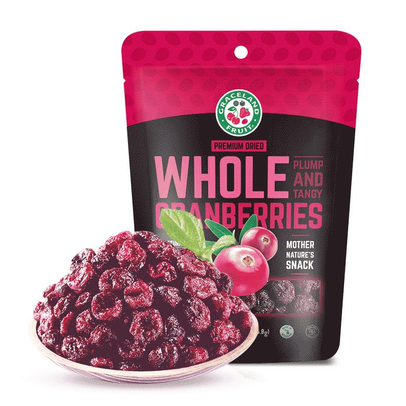美国 GRACELAND FRUIT 果瑞氏 无添加蔓越莓切片 226g*3件