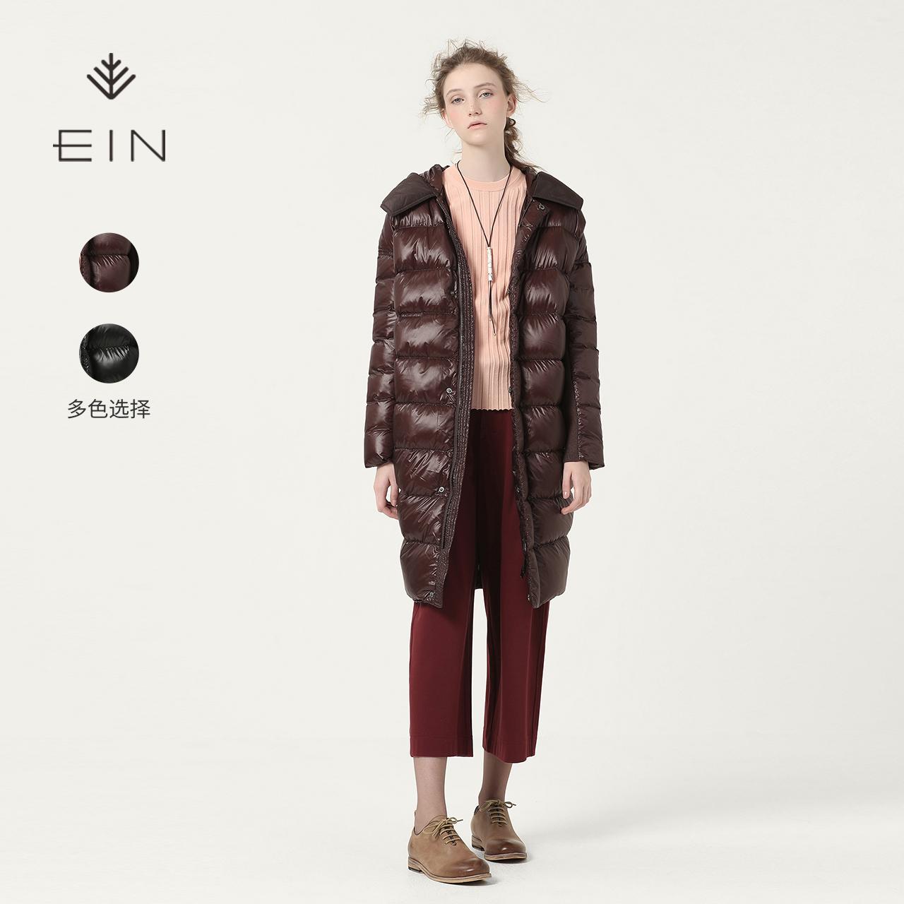 EIN-言茧型百搭女中长款宽松加厚冬季羽绒服反季清仓品牌正品