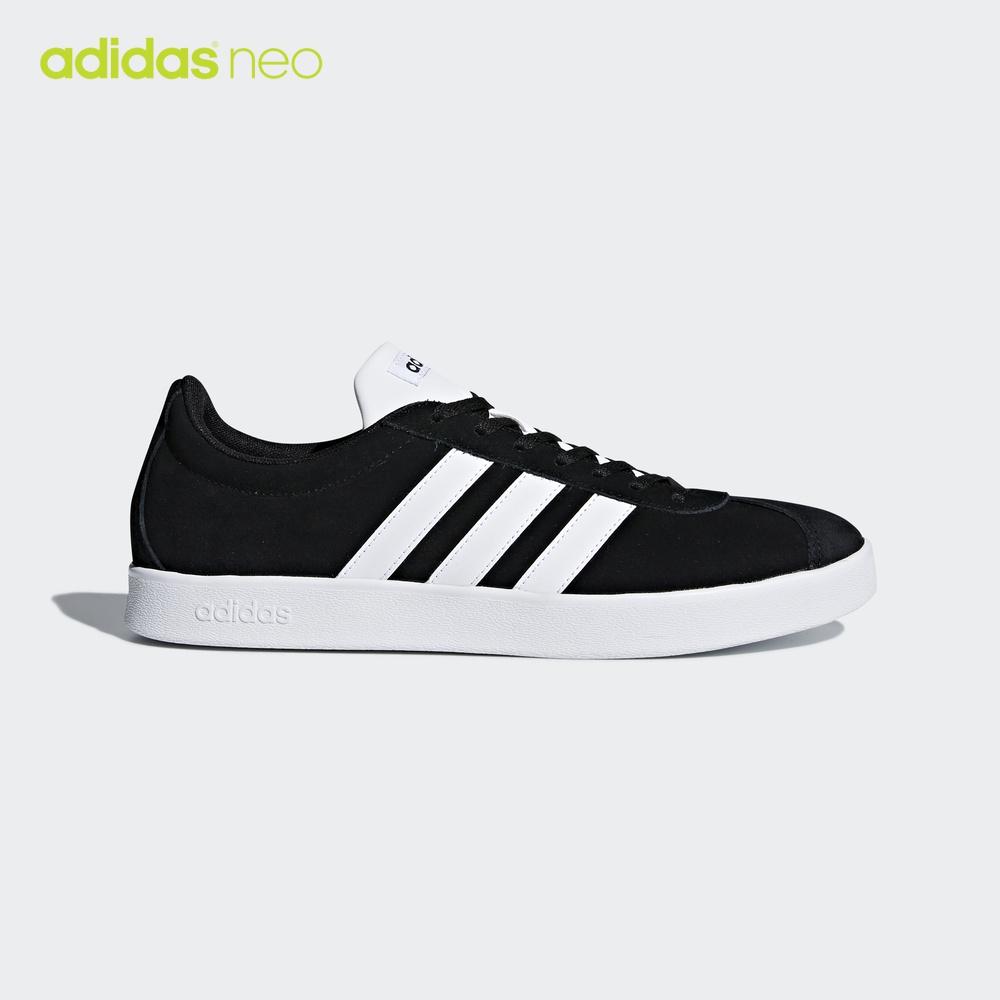 阿迪达斯 adidas neo 男女 VL COURT 2.0 休闲鞋 1号黑色 DA9853