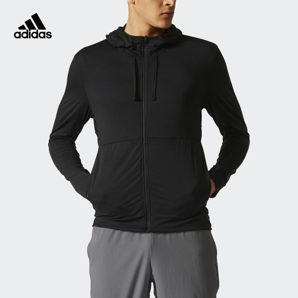 阿迪达斯adidas 官方 训练 男子 针织夹克 黑 CD8839