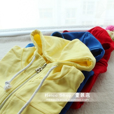 Children 's clothing 2017 spring and autumn new Korean version of the boys girls Sweater children zipper cardigan baby hooded jacket
