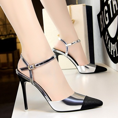 86-19 European and American fashion professional OL with shallow mouth high-heeled shoes fine sexy show thin hollow out