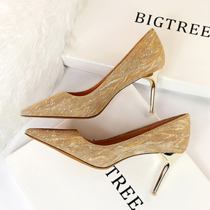 825 - A12 euramerican fashion sexy party high-heeled shoes with high heels for women's shoes with thin metal lighte