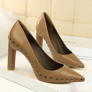 122-2 the European and American wind sexy rock club high heels for women's shoes with thick with metal with shallow