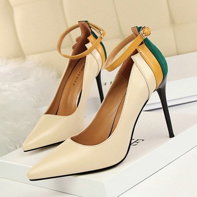 9219-9 European and American wind sexy club for women's shoes high-heeled shoes high heel with lighter color pointed to