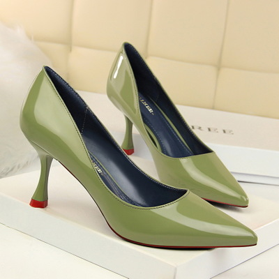 3169-1 the European and American wind fashion contracted professional OL single high-heeled shoes women's shoes lighter