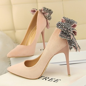 Rhinestone shoes heels women