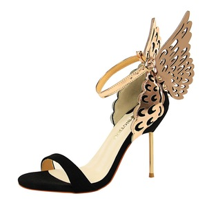 993-1 the European and American wind nightclub sexy party shoes high-heeled shoes high heel sandals with one word with d
