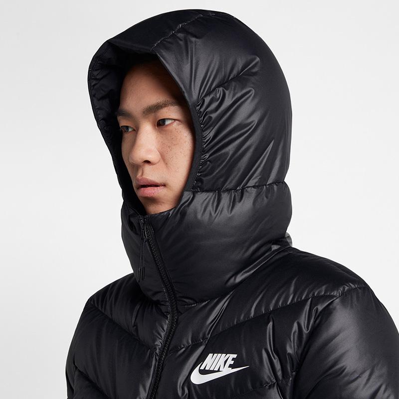 耐克男装NIKE 2018冬季新款连帽运动保暖双拉链羽绒服928834-010