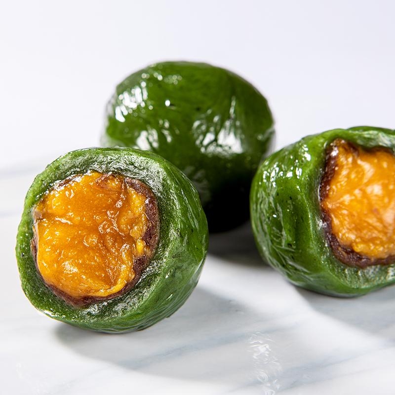食滋源艾草青团糕团网红蛋黄肉松清明果糯米果团子糕点零食小吃