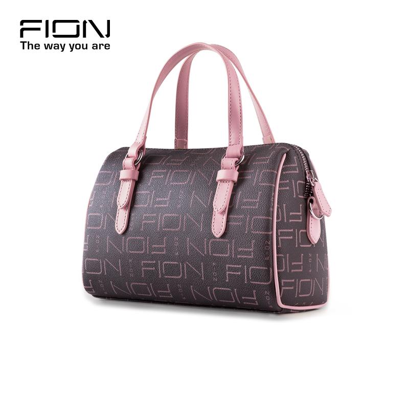 FION-菲安妮女士手提包 欧美波士顿枕头包时尚斜挎小包女品牌女包