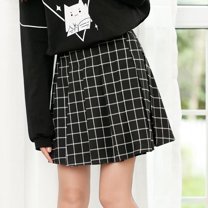 Váy nữ dễ kết hợp phong cách Nhật Bản kiểu dáng rộng rãi phong cách học sinh
