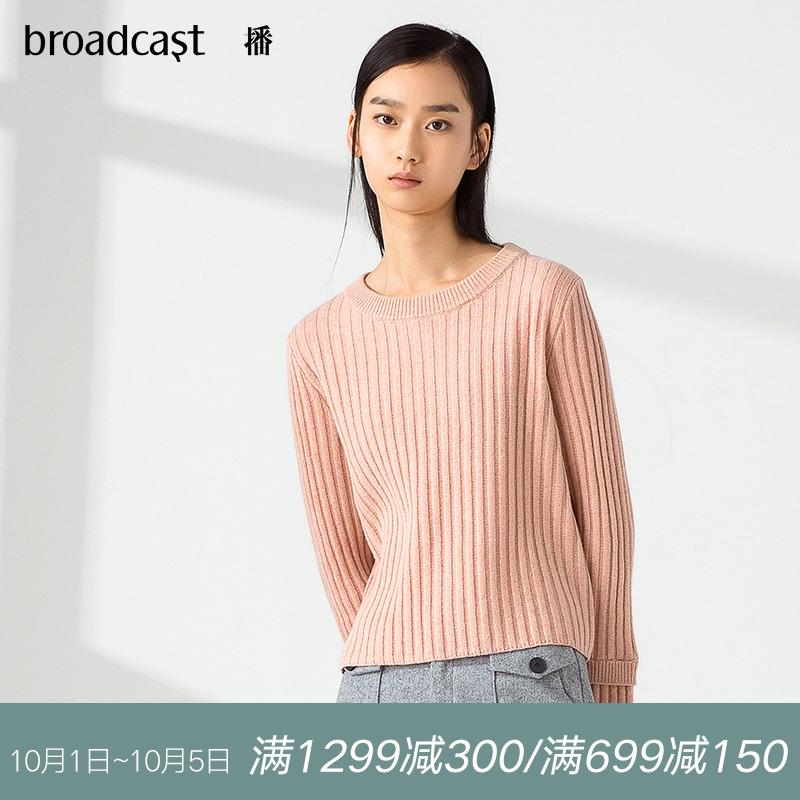 播 2018秋装新款韩版时尚宽松针织衫圆领套头长袖毛衫女DDL3S307