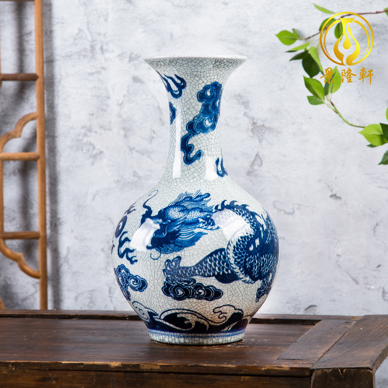 Jingdezhen ceramics, antique Ming and the qing dynasty up crack vases furnishing articles flower arrangement home wine ark, adornment furnishing articles