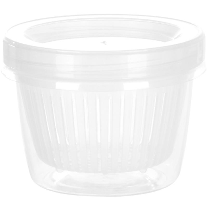 【日本进口】厨房收纳盒双层沥水