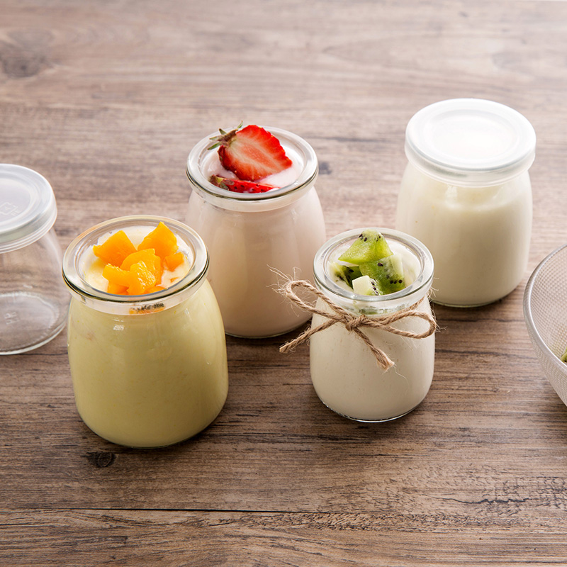 Glass pudding bottle homemade yogurt mousse small bottle kitchen with high temperature baking mold