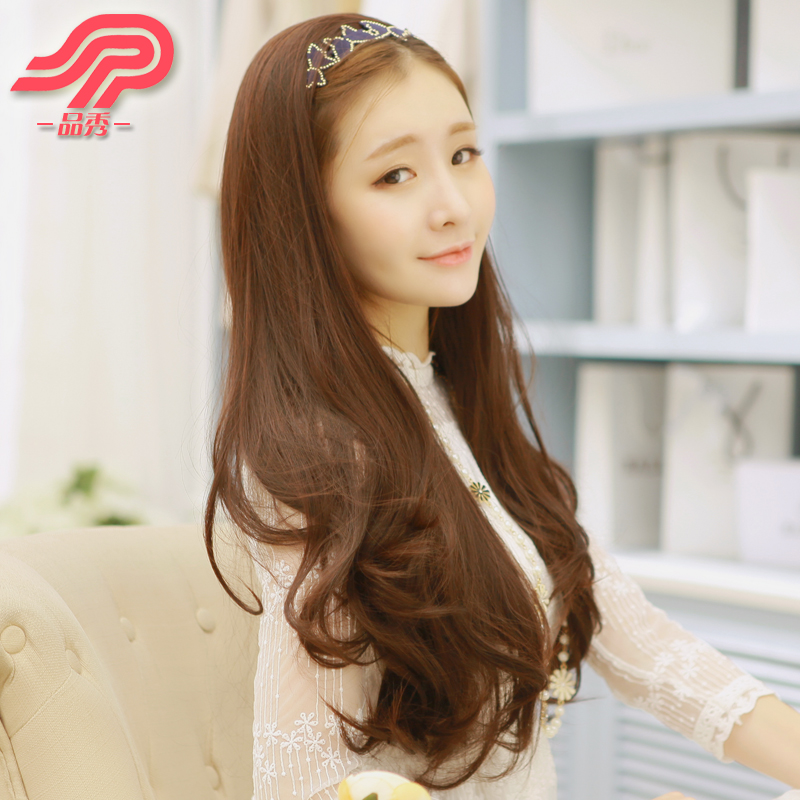 Women Half Wigs Long Hair Pear Hair Extensions Long Curly Fluffy ...