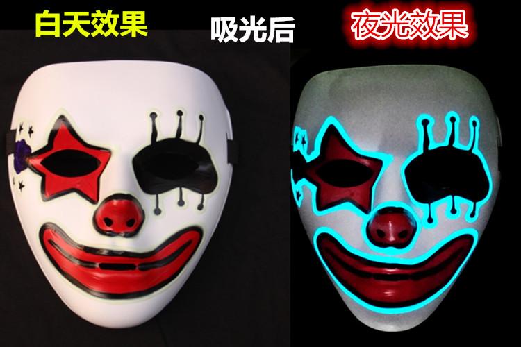恐怖面具 万圣节化妆白色鬼步舞面具男街舞面具恐怖面具鬼舞步 阿里