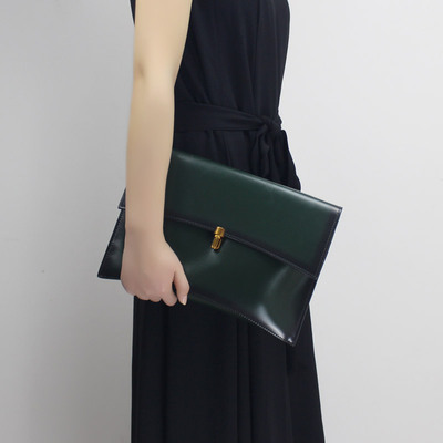 Mai Yuren original ladies clutch leather envelope bag banquet handbag retro simple leather shoulder Messenger bag