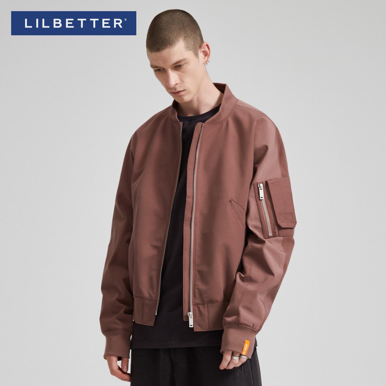 Lilbetter棒球服男立领运动外套韩版飞行员夹克男休闲秋季外衣潮