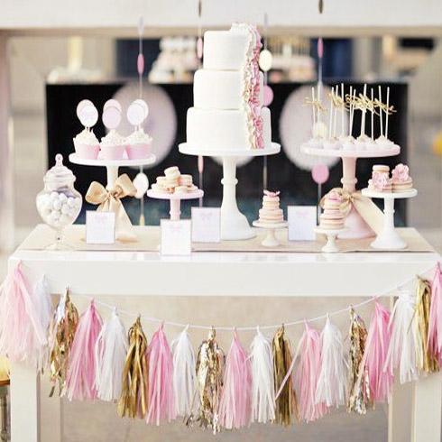 Amour Wedding丝带节日装饰帘LH128