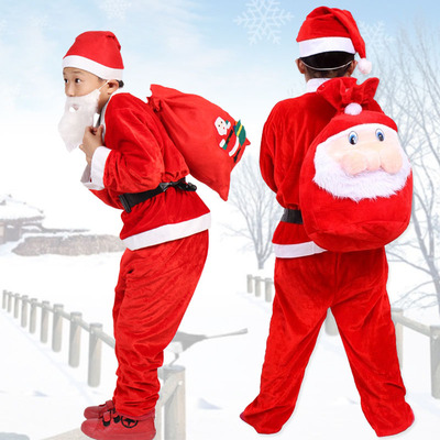 Christmas Costumes Santa Cloths for Kids 679602