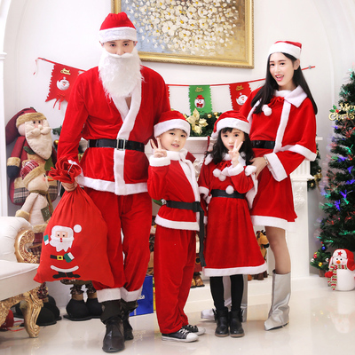 Christmas Costumes Santa Clothes for Adults and Children 739638