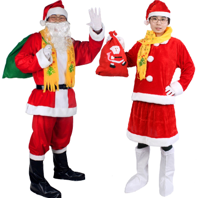 Christmas Costumes Santa Cloths for Kids and Adults 272824