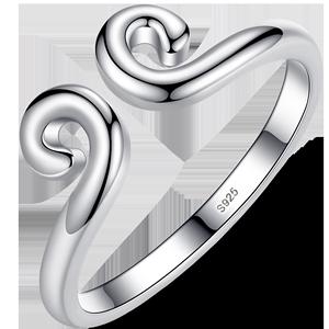 纯银紧箍咒戒指男士女情侣对戒金箍孙悟空金箍棒食指尾戒个性一对