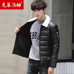 男士外套冬季2018新款棉衣潮流韩版修身羽绒棉服棉袄加厚帅气冬天