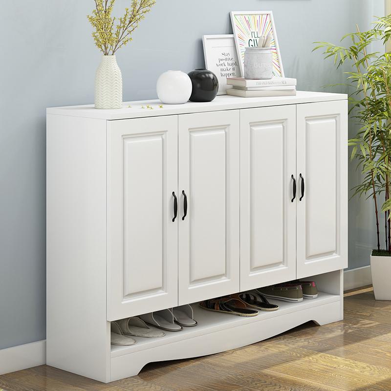 门口鞋柜简约现代门厅柜鞋架木质欧式鞋柜简易经济型家用组装