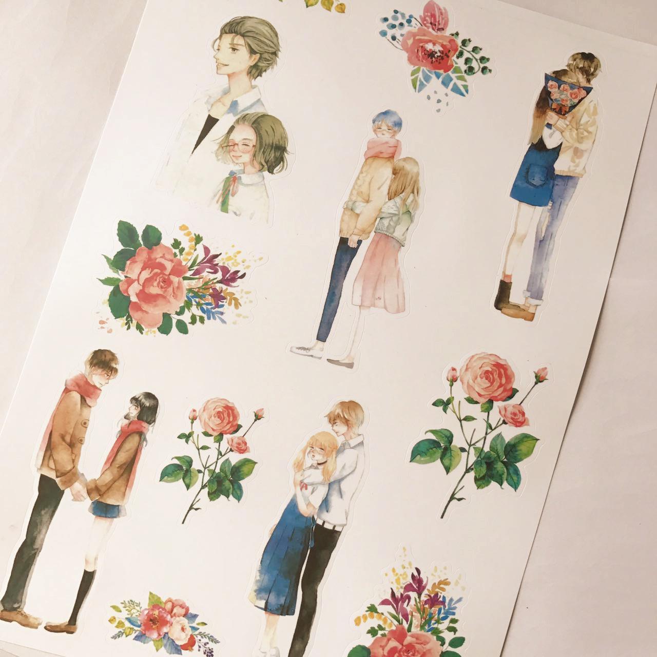 手帐之家手帐贴纸相册装饰 可爱手绘少女 女孩笔记本日记手账贴纸